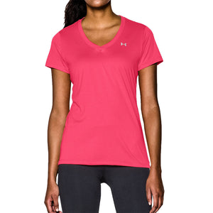 Women's UA Tech™ V-Neck in Pink by Under Armour