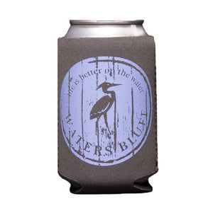 Wood Grain Can Holder in Slate Grey by Waters Bluff Clothing Co.
