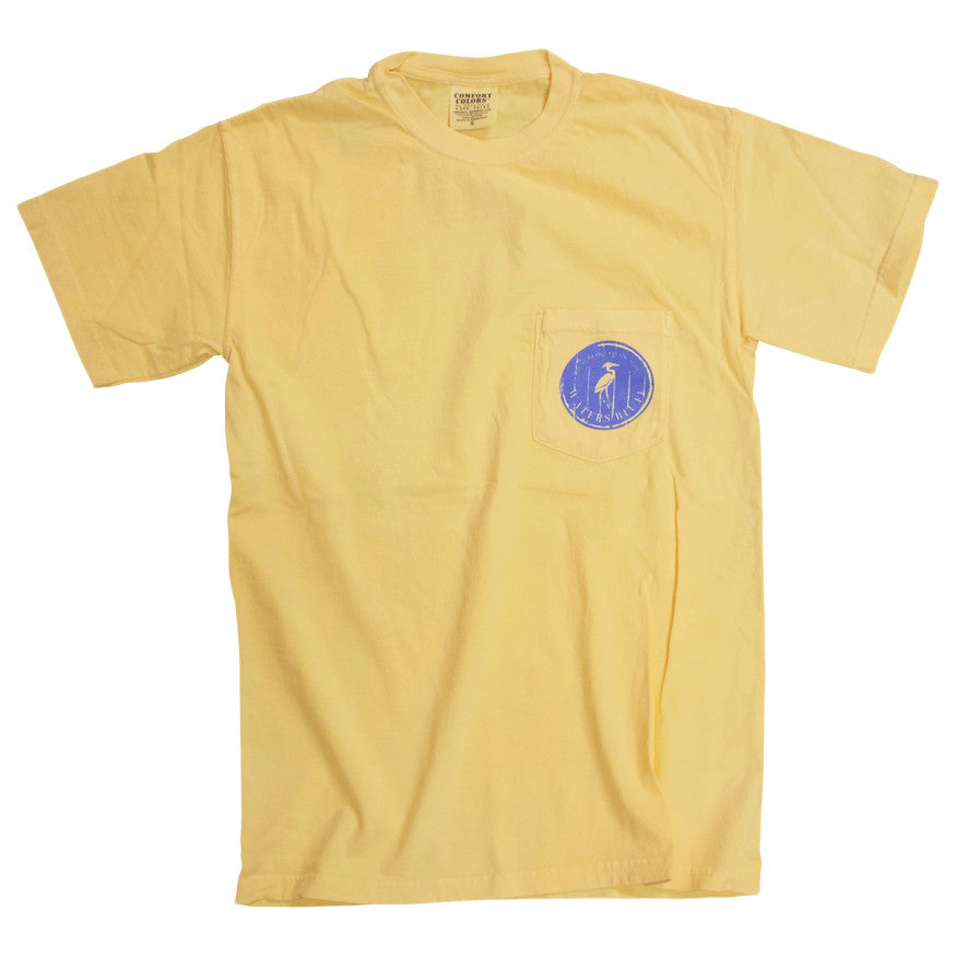 Wood Grain Tee Shirt in Butter Yellow by Waters Bluff