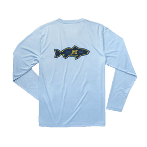 YETI Redfish Long Sleeve Sun Shirt in Carolina Blue