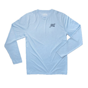 YETI Redfish Long Sleeve Sun Shirt in Carolina Blue1