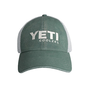 YETI Washed Low Pro Trucker Hat in Green