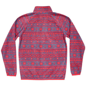 Alpine Fleece Pullover in Navy and Red by Southern Marsh  - 2