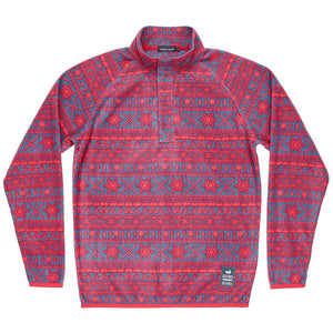 Alpine Fleece Pullover in Navy and Red by Southern Marsh  - 1