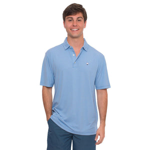 Andrews Performance Polo in Regatta Blue    - 2