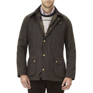 Ashby Waxed Jacket in Olive