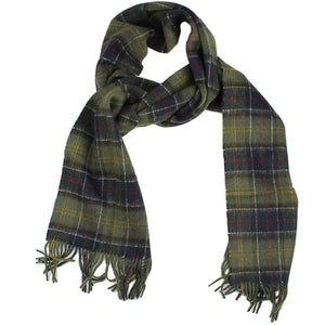 Double Faced Check Scarf in Classic Tartan