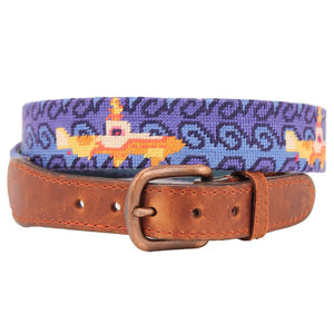 Beneath the Waves Needlepoint Belt by Parlour  - 1