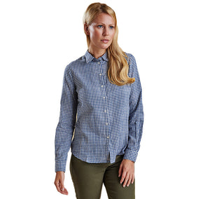 Bower Shirt in Navy Gingham