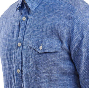 Bowspirit Linen Button Down in Indigo by Barbour  - 4