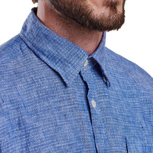 Bowspirit Linen Button Down in Indigo by Barbour  - 3