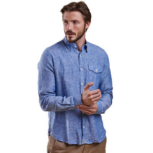 Bowspirit Linen Button Down in Indigo by Barbour  - 1