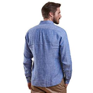 Bowspirit Linen Button Down in Indigo by Barbour  - 2