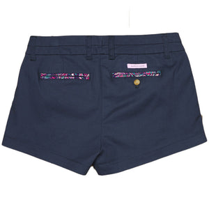 The Brighton Short in Colonial Navy with Paisley by Southern Marsh  - 2