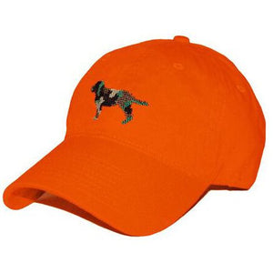 Camo Retriever Needlepoint Hat in Orange