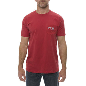 Coat of Arms Pocket Tee in Red by YETI  - 2