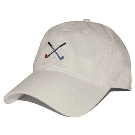 f434f3c0c902f Crossed Golf Clubs Needlepoint Hat in Stone - Tide and Peak Outfitters