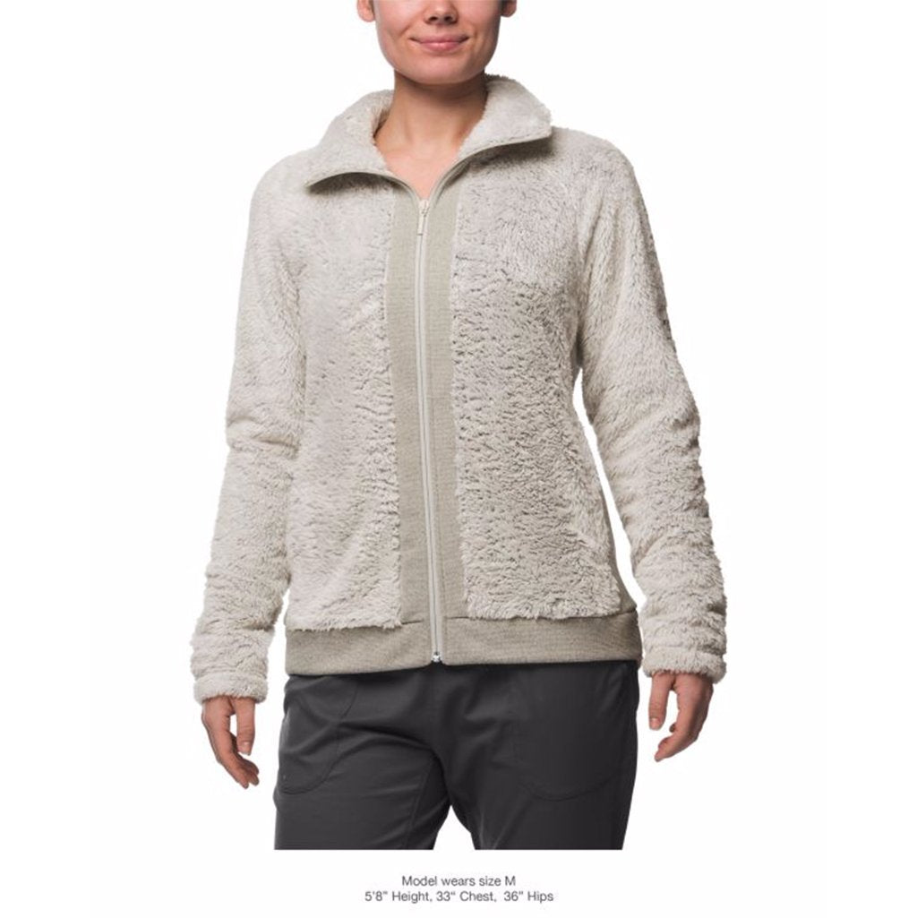 bfc15e4a1e The North Face Women s Furry Fleece Full Zip Jacket in Rainy Day Ivory