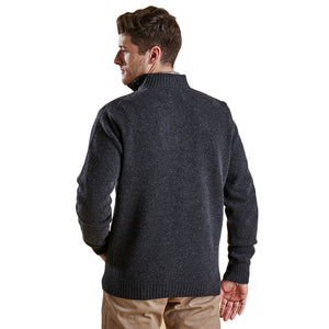 Essential Lambswool Half Zip Pullover in Charcoal