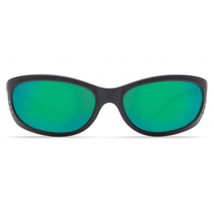 Fathom Matte Black Sunglasses with Green Mirror 580P Lenses