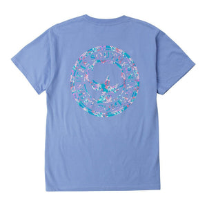 Floral Logo Tee Shirt in Cornflower Blue by The Southern Shirt Co.  - 1