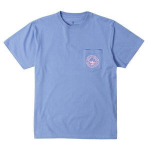 Floral Logo Tee Shirt in Cornflower Blue by The Southern Shirt Co.  - 2