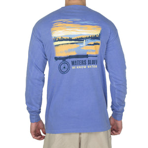 Fly Fisher Long Sleeve Tee Shirt in Flo Blue   - 1