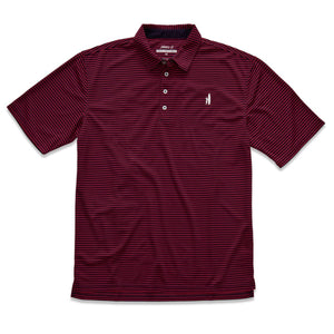 "The Fringe ""Prep-Formance"" Polo in Samba and Eclipse"