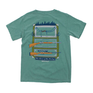 Fripp & Folly Seasons of Hunting Tee in Light Green