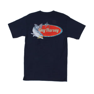 Guy Harvey Speckles Tee in Navy