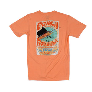 Guy Harvey Trippy Tee in Mango