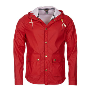Hooded Slim Reelin Jacket in Red by Barbour  - 5