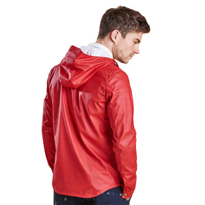 Hooded Slim Reelin Jacket in Red by Barbour  - 3