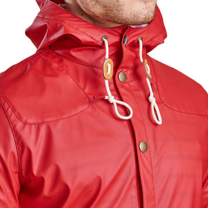 Hooded Slim Reelin Jacket in Red by Barbour  - 2