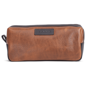 Jackson Toiletry Kit in Cognac American Bison