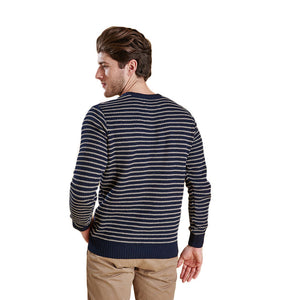 Legion Stripe Crew in Navy by Barbour  - 3