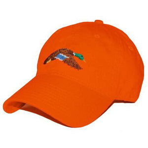 Flying Mallard Needlepoint Hat in Orange