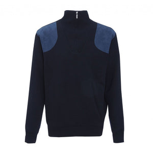 Storm Half Zip Sweater in Navy