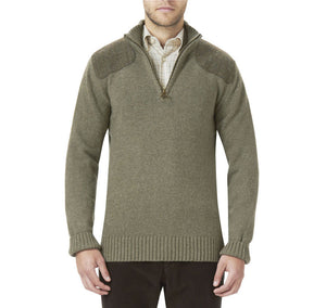Weymouth Half Zip Jumper in Light Olive Green