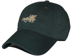 Dry Fly Needlepoint Hat in Hunter Green
