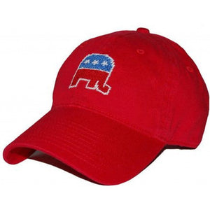 Republican Needlepoint Hat in Red