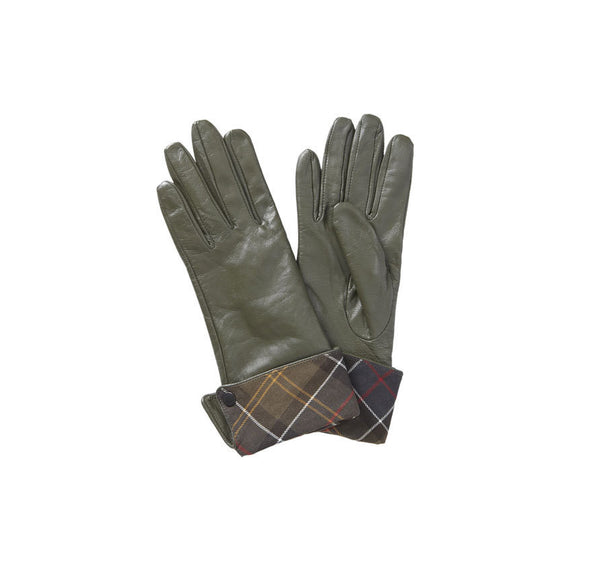 Lady Jane Leather Gloves in Olive