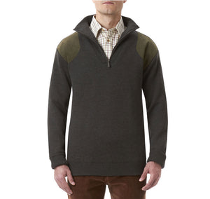 Storm Half Zip Sweater in Loden