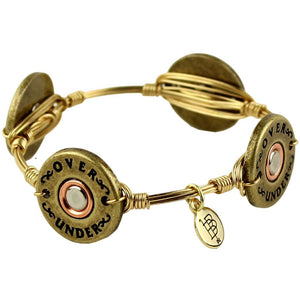Bourbon & Boweties Shotgun Shell Bangle by Over Under Clothing  - 1