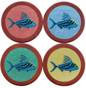 Roosterfish Coasters in Bermuda Sand