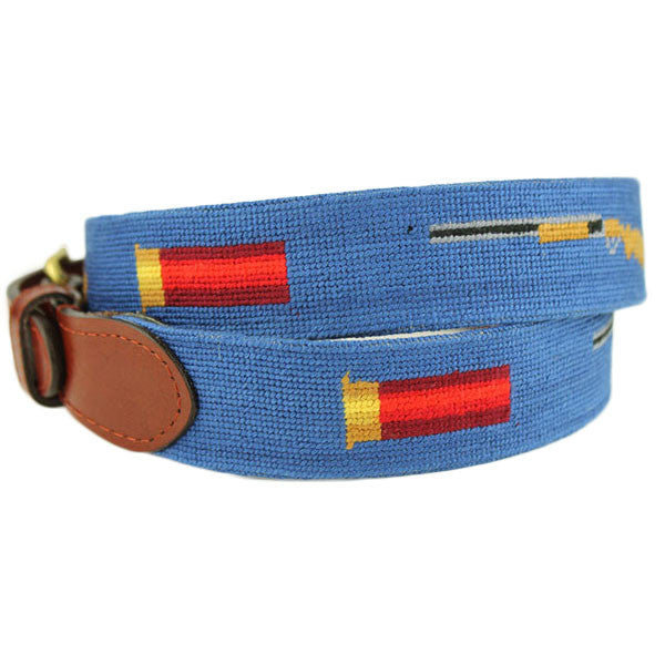 Shotgun and Shell Needlepoint Belt