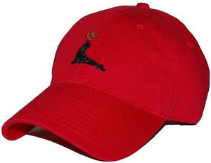 Goslings Needlepoint Hat in Red