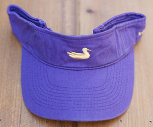 Visor in Purple with Yellow Duck by Southern Marsh