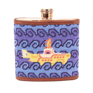 Beneath The Waves Needlepoint Flask by Parlour  - 1
