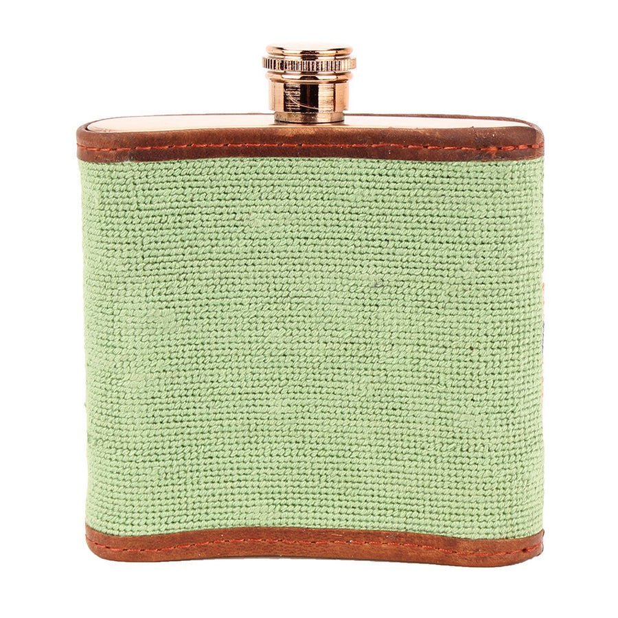 Here's To You Needlepoint Flask by Parlour  - 1